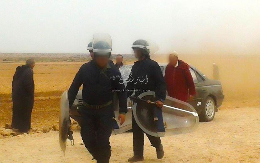 تفاصيل إصابة 26 فردا من القوات المساعدة في مواجهات دامية حول حرث أرض فلاحية