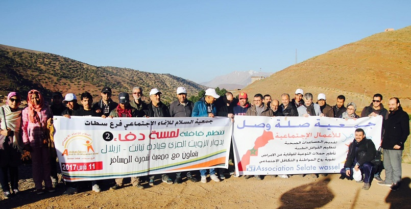 """جمعية السلام للإنماء الإجتماعي فرع سطات تنظم قافلة """"لمسة دفىء"""" بإقليم ازيلال"""
