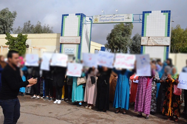 خريبكة : قسم ولادة بدون طبيبة والائتلاف المغربي يدخل على الخط