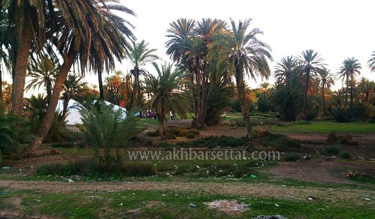 """واحة """"سيدي عمر"""" منطقة سياحية بإقليم سطات..في طريقها للزوال"""