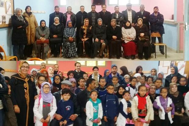 توزيع نظارات على تلاميذ ضعاف البصر بمدرسة وادي الذهب