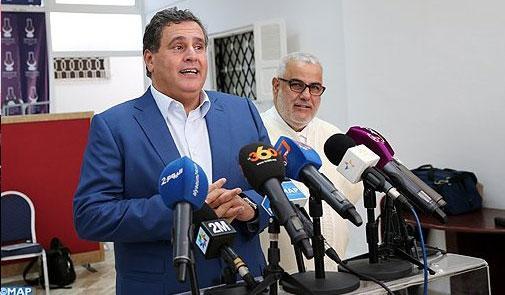 """أخنوش: المشاورات الأولية مع رئيس الحكومة المعين """"مهمة وبناءة"""""""