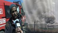 """تفاصيل الحريق المهول بشركة المفروشات """"ريشبوند"""" بالبرنوصي"""